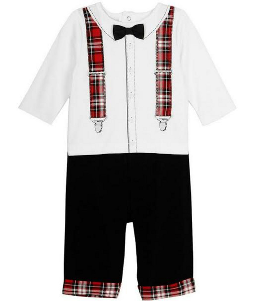 Little Me Baby Boys Holiday Or Christmas Suspender Set