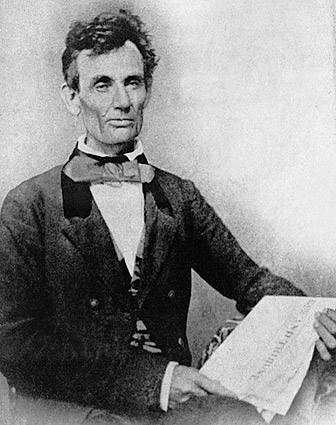 Abraham Lincoln As Illinois Senate Candidate In 1854 Photo