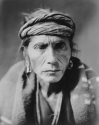 Navajo Indian Man Edward S Curtis Portrait Photo Print