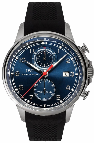 IW390213 IWC Portuguese Chronograph Steel Mens Blue Dial Watch