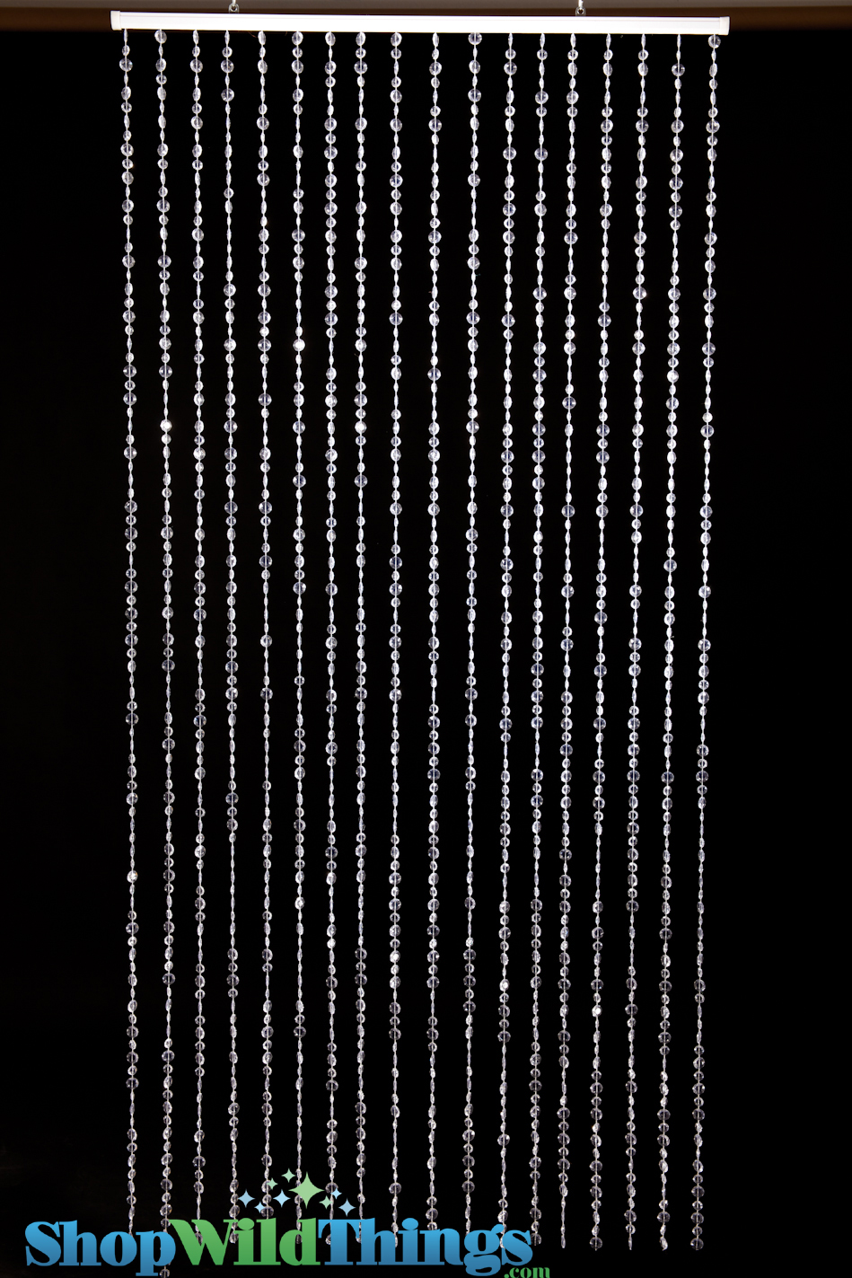Crystal Clear Curtains Amp Backdrop 9 Feet Long Non Iridescent Beaded Curtain Diamante Duo