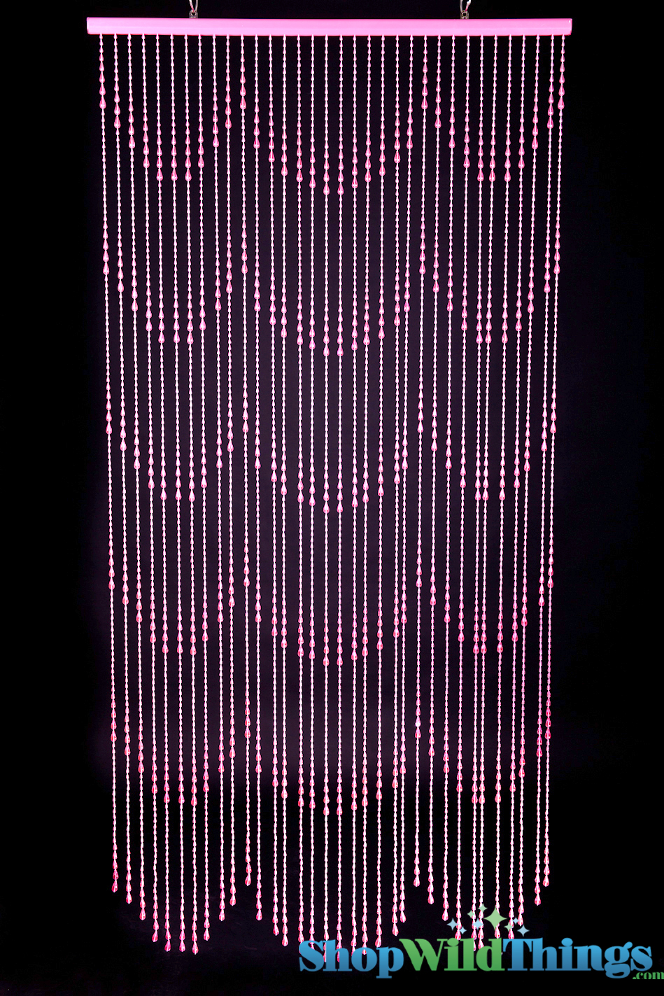 Beaded Curtains Door Panel Curtains Sweet 16 Decor Raindrops Pink Non Iridescent