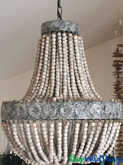 Wooden Bead Chandelier Capeing Com