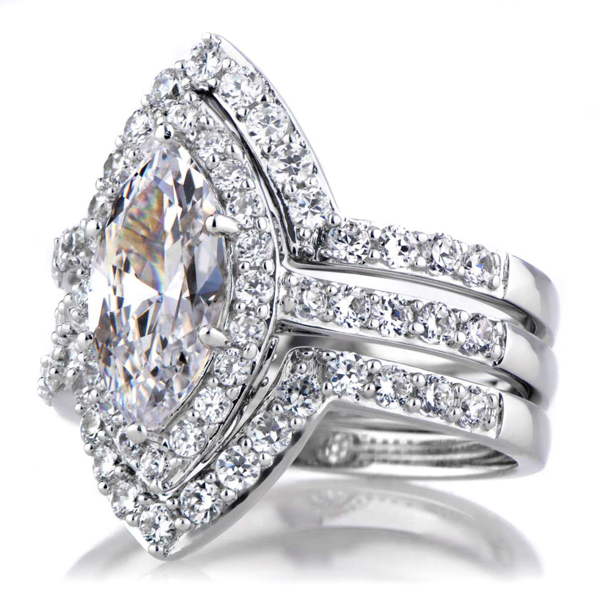 Wedding Rings Pictures Marquise Wedding Ring Sets