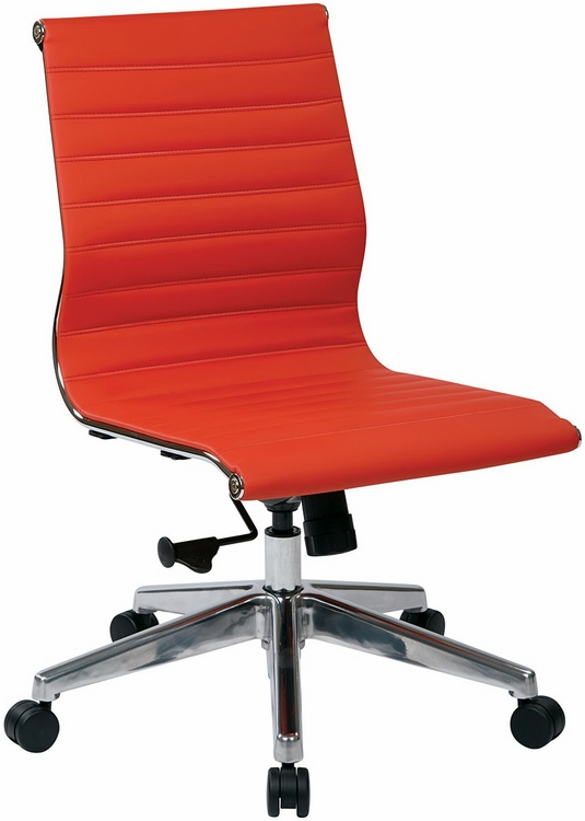 managers mid back red leather office chair buy matrix mid office chair
