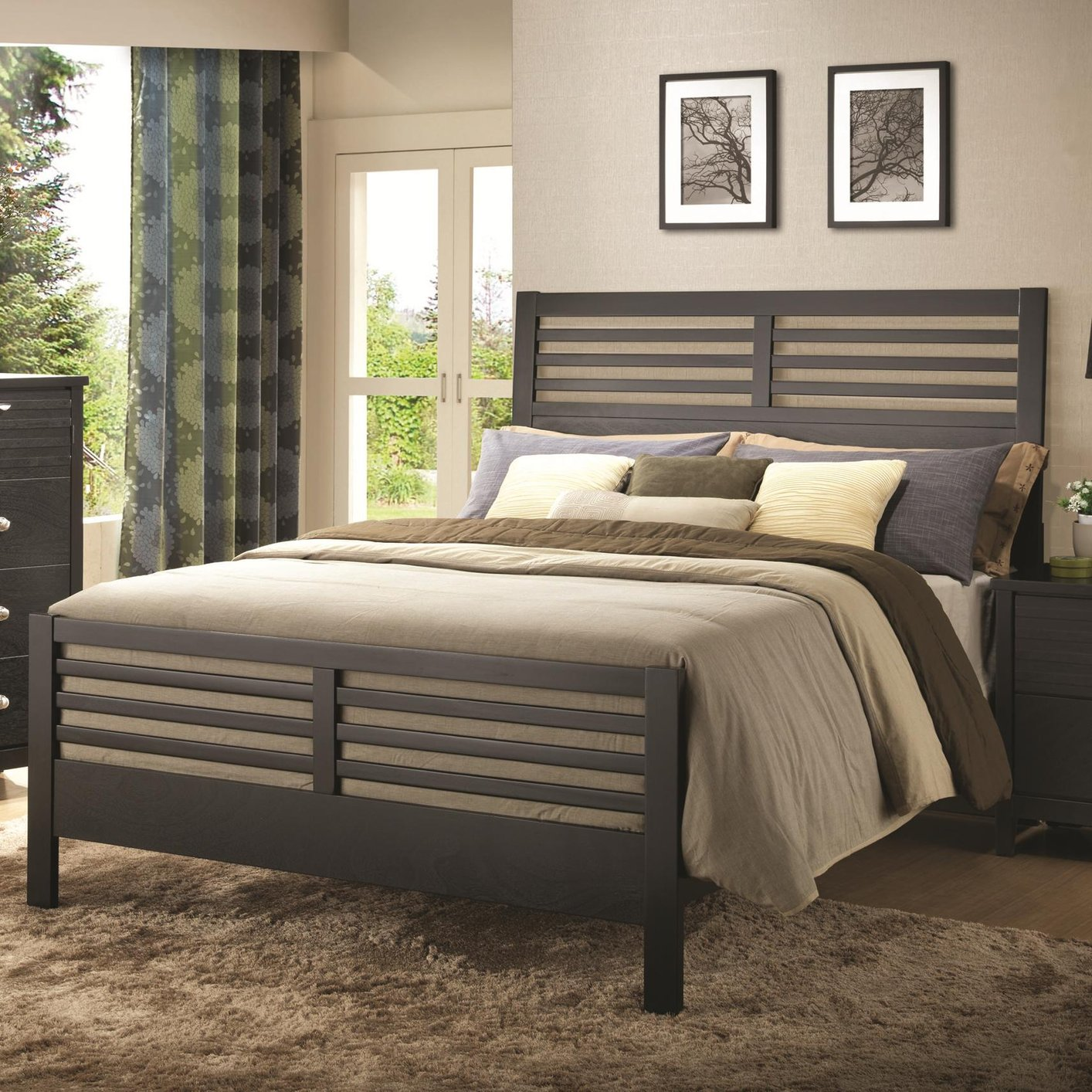 Coaster Kw Black California King Size Wood Bed