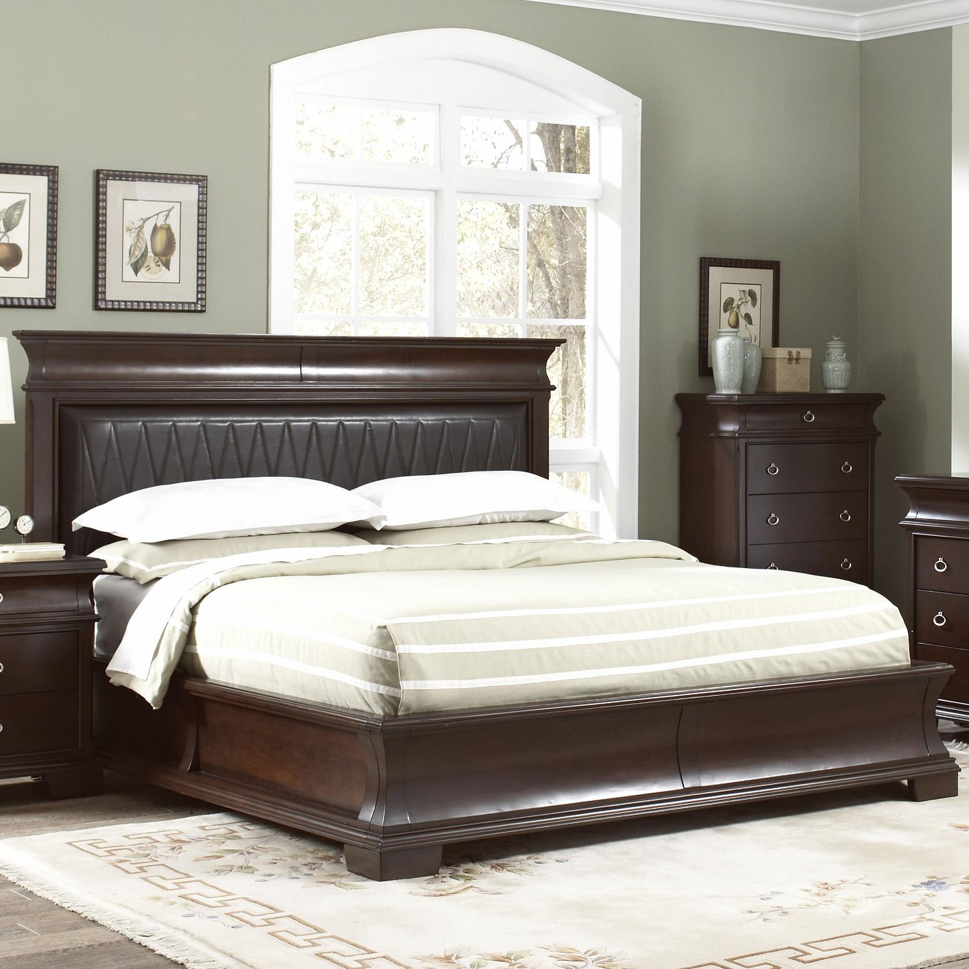Coaster Ke Brown Eastern King Size Wood Bed