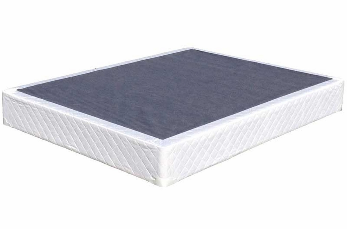 Kingdom Kingdom Box Spring Queen White Fabric Queen Size
