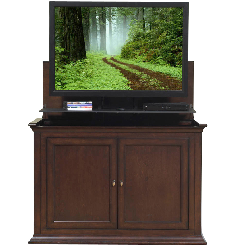 any room bedroom end of bed tv lift cabinets