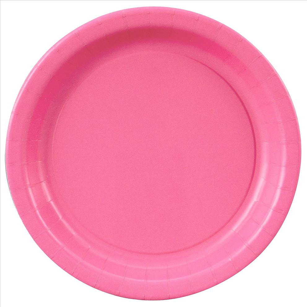 Hot Pink Paper Plates 7