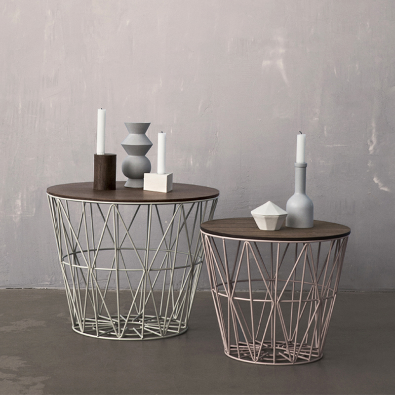 district17 grey large wire basket storage amp shelves