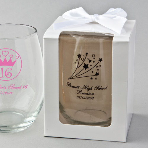 Personalized Class Reunion 15 Ounce Glasses