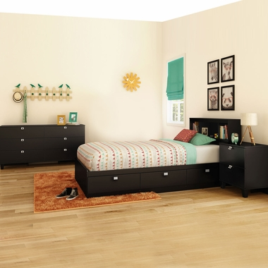 3 piece bedroom set fynn twin mates bed 5 drawer chest and nightstand fynn in gray oak 3237212 3237035 3237060 by south shore bedroom sets at simplykidsfurniture