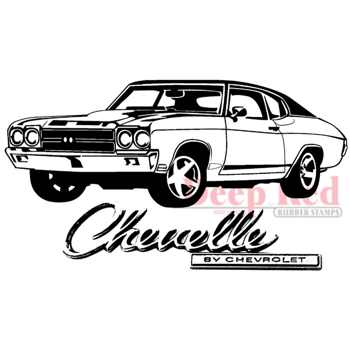 Deep Red Cling Stamp Chevelle 21