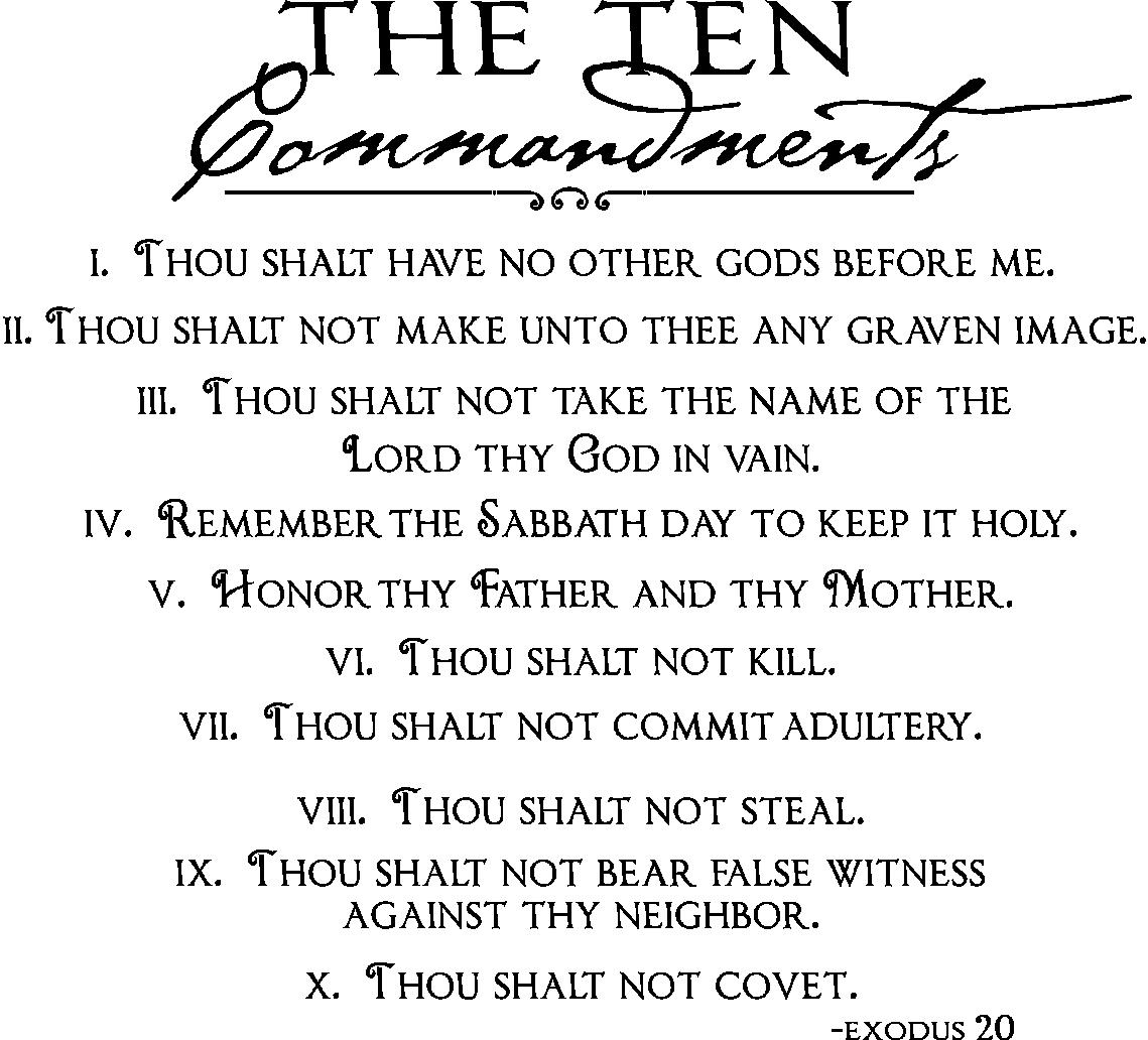 Ten Commandments Quotes Quotesgram