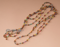 Native Navajo Indian Ghost Beads Multicolor J138