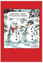 Laser Eye Surgery Cartoons Christmas Greeting Card Dave