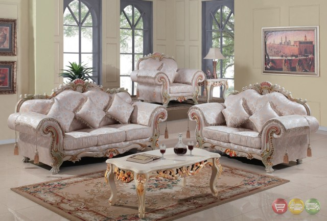 Luxurious Traditional Victorian Formal Living Room Set ...