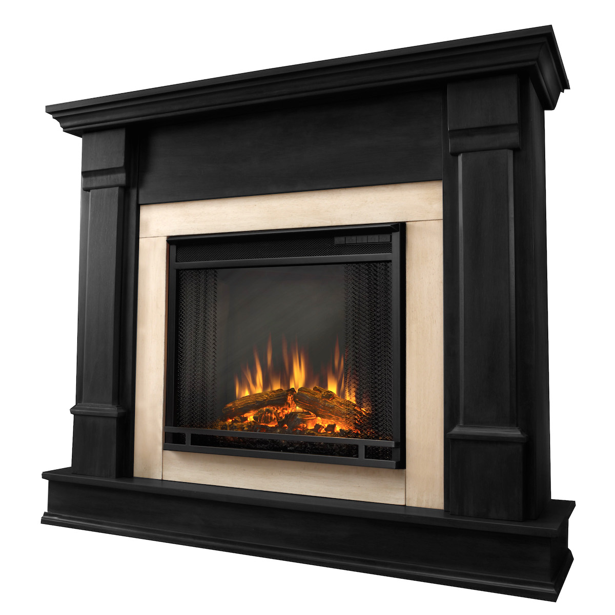Real Flame Silverton Electric Fireplace In Black