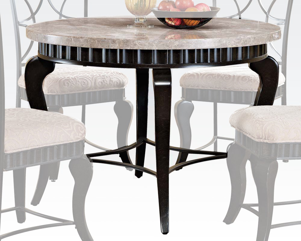 acme lorencia ac acme white marble top dining table lorencia ac : round white marble dining table