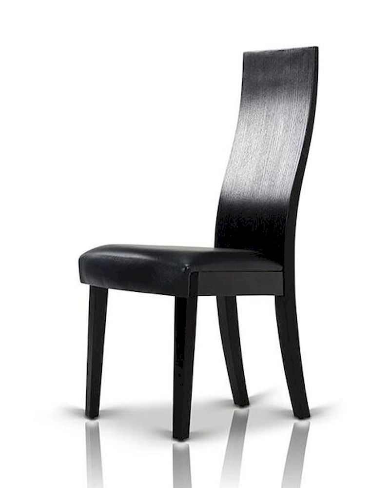 Black Oak Dining Chair in Contemporary Style 44D616CH (Set ...