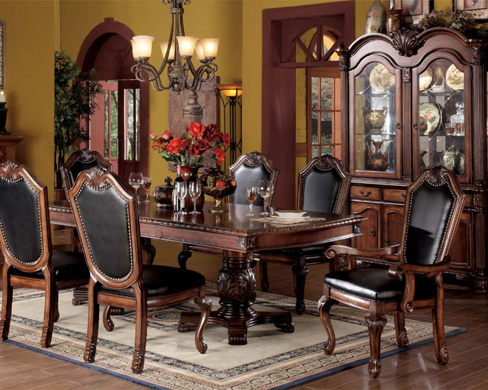 Cherry Dining Set Chateau De Ville By Acme Furniture