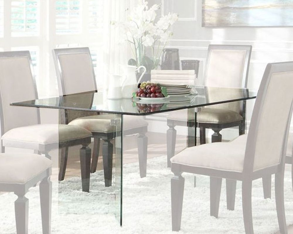 Homelegance Rectangle Glass Dining Table Alouette EL 17813