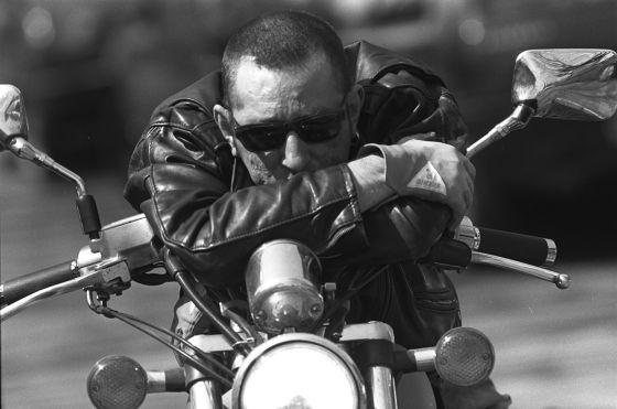 Enrique Sierra on Motorcycle