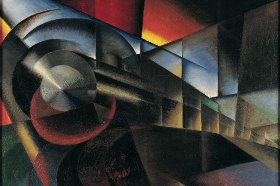 Ivo Pannaggi, 'Tren en movimiento', 1922