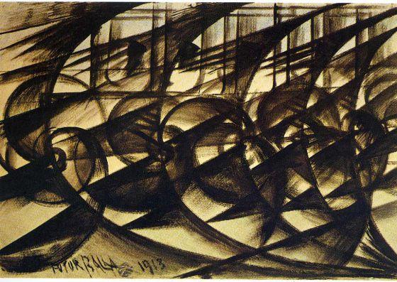 'Velocidad de automóvil' (1913) de Giacomo Balla