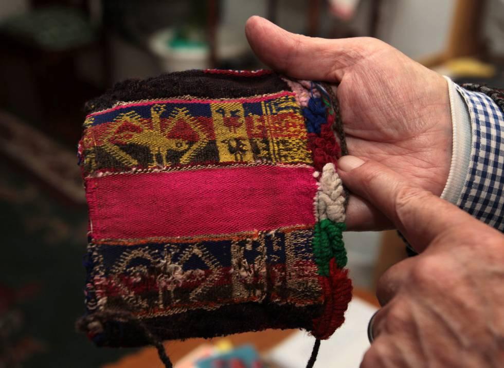 Fotografía que muestra en detalle un textil indígena boliviano