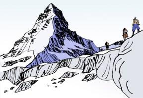 Resultado de imagen de montaña dibujo