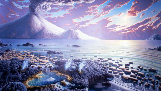 Resultado de imagen para Explicación verticalista del origen de la corteza arcaica