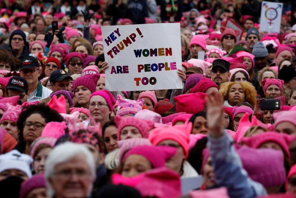 'Marcha de las Mujeres' contra Donald Trump en Washington.