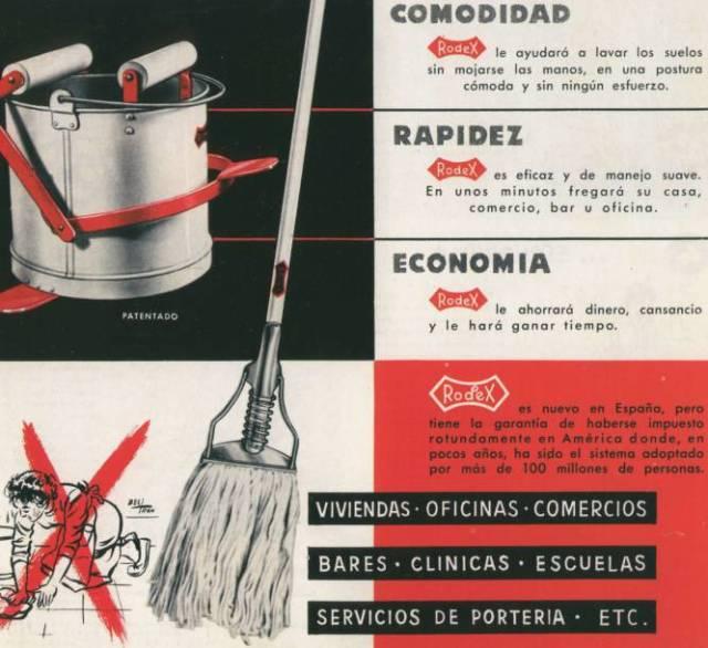 """Es cierto que la idea de unir un ramillete de fibras textiles a un palo de escoba para limpiar en húmedo el suelo es una idea bastante vieja y desarrollada ya antes de los años sesenta. Pero Manuel Jalón Corominas (Logroño, 1925-Zaragoza, 2011) fue el primero en empezar a distribuirla en España a mediados de los cincuenta (en aquella época lo llamaba """"Aparato Lavasuelos"""") y en 1964 patentó una solución que sí era original: un escurridor cónico acoplado a un cubo, para poder utilizarlo con más facilidad. El 'kit' completo (fregona de textil absorbente, escurridor y cubo) fue un éxito nacional e internacional y diversos pleitos legales han dado a Jalón Corominas el crédito que merece. Así que gracias a un español millones de personas en todo el mundo tienen el suelo limpio como patenas."""