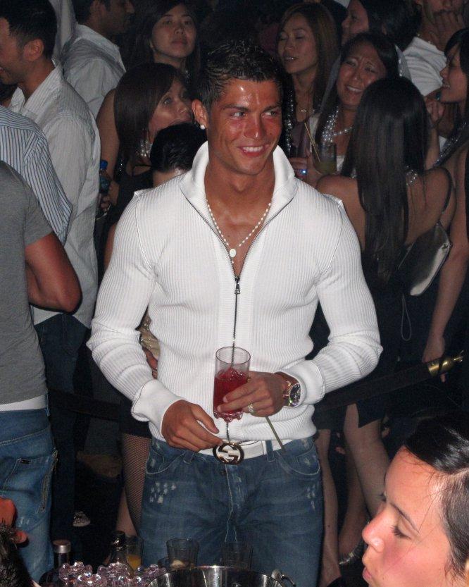 CR7, de fiesta en el XS Nightclub de Las Vegas, en junio de 2009.