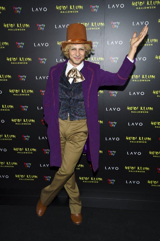 El diseñador Zac Posen disfrazado de Willy Wonka.
