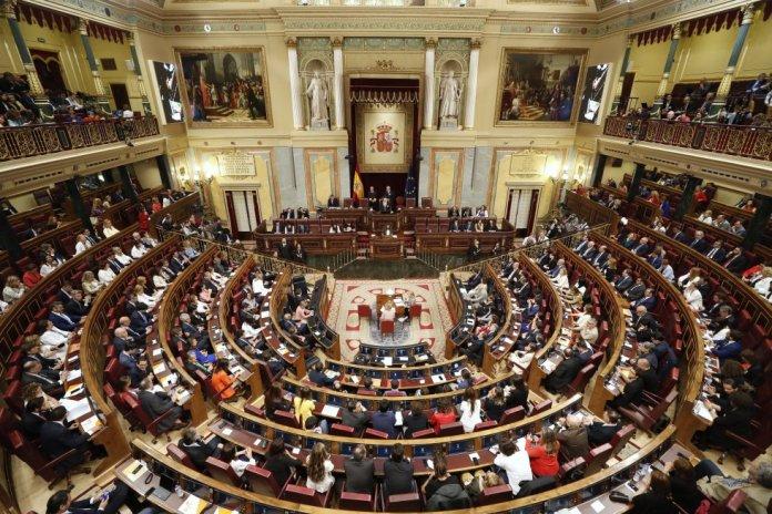 Vista general del hemiciclo durante la sesión constitutiva.