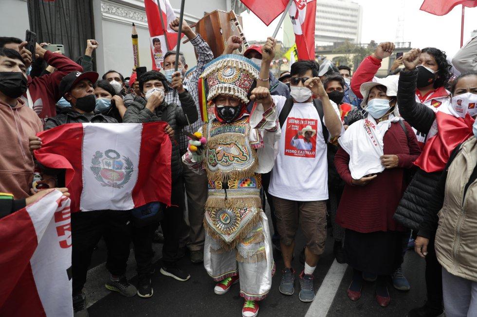 Fotos: Los seguidores de Pedro Castillo se echan a las calles de Perú | Internacional | EL PAÍS