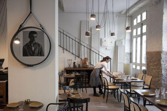 Ambiente del restaurante La Vaquería Montañesa. Madrid