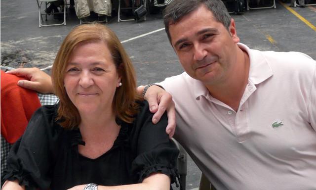 Amaya Egaña and her husband
