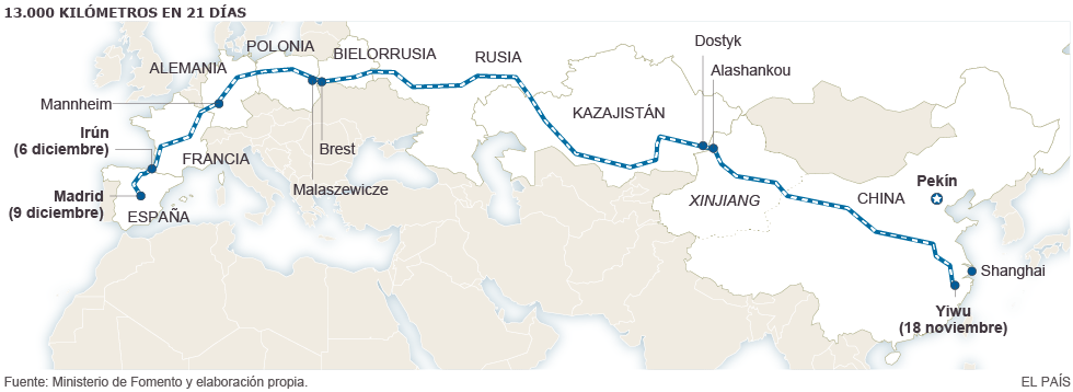Treno merci cinese