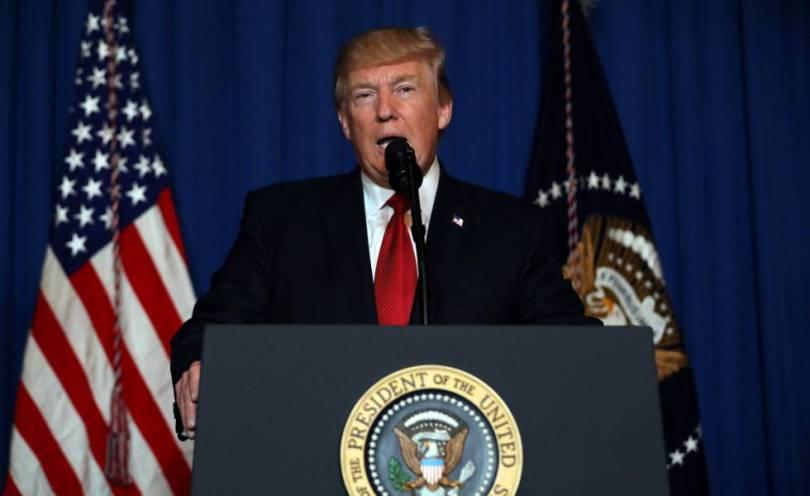 Trump em mensagem sobre o ataque de mísseis contra a Síria.