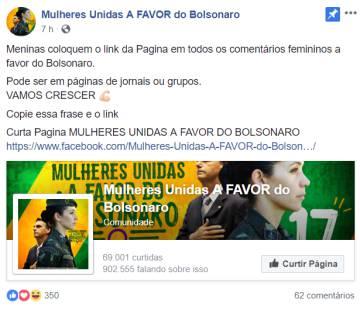 """Grupo """"Mulheres contra Bolsonaro"""" no Facebook sofre ataque cibernético e fica fora do ar"""