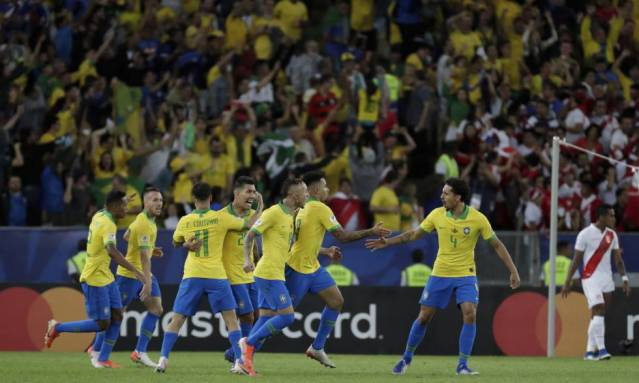 ao vivo jogo resultado final brasil x peru copa américa