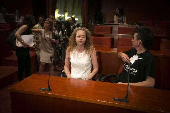 Ester Quintana en la comisión de Interior. / MASSIMILIANO MINOCRI