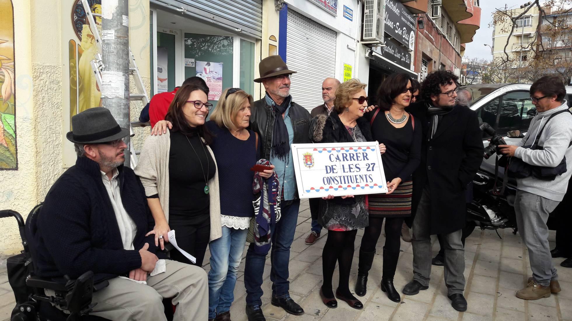 El acto organizado para el cambio de nombre de una de las calles. AYUNTAMIENTO ALICANTE