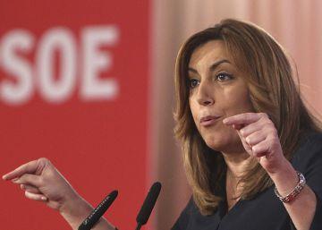 """Susana Díaz: """"Vamos a hablar bien de los compañeros en el PSOE"""""""