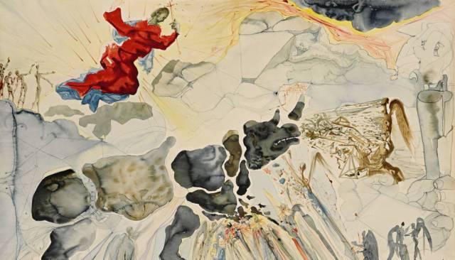'Rinoceronte en desintegración', de Salvador Dalí (1950).