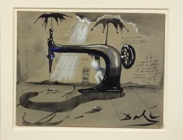 'Máquina de coser con dos paraguas', de Salvador Dalí (1951).